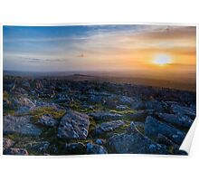 Moorland Late Evening Sun Poster
