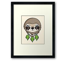 Sloth Head Framed Print