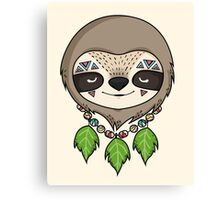Sloth Head Canvas Print