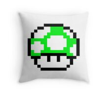 PIXEL - 1UP mushroom Throw Pillow