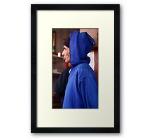 Moment of thought Framed Print