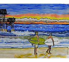 surf art Photographic Print