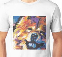 Chow chow Dog Bright colorful pop dog art Unisex T-Shirt