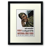 National War Fund -- WW2 Propaganda  Framed Print