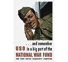 National War Fund -- WW2 Propaganda  Photographic Print