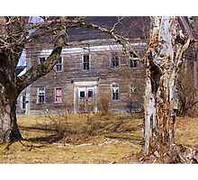 Dead Tree - Dead House Photographic Print