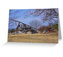 Collapsed barn Greeting Card