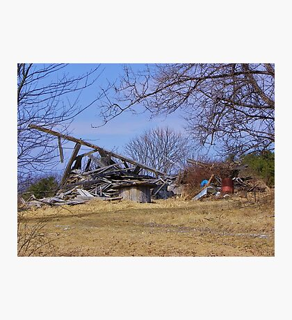 Collapsed barn Photographic Print