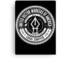 United Vector Workers of America (windows) Canvas Print