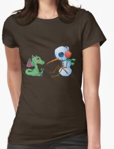 Snowman and Dragon Shirt Womens Fitted T-Shirt