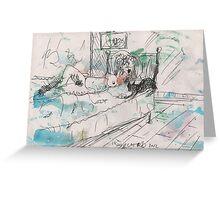 SHUU CAT 2(ORIGINAL SKETCH)(C2012) Greeting Card