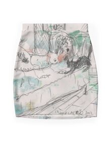 SHUU CAT 2(ORIGINAL SKETCH)(C2012) Mini Skirt