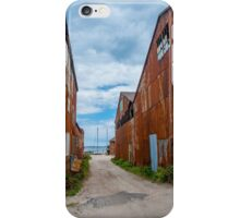 Rusty Buildings in Greenport iPhone Case/Skin