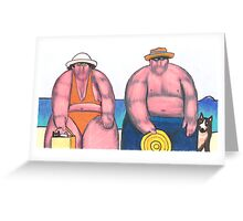 On the Beach 9 - Bring the Whole Family Greeting Card