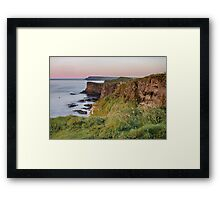 Glow over Dunluce Castle Ruins | Irish Landscape | Pictures Of Ireland Framed Print