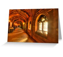 Windows bring light to the corridor Greeting Card