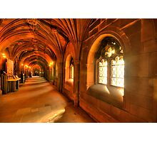 Windows bring light to the corridor Photographic Print