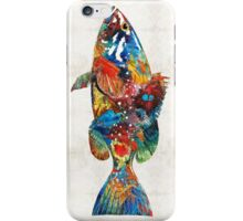 Colorful Grouper Art Fish by Sharon Cummings iPhone Case/Skin