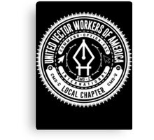 United Vector Workers of America (Mac) Canvas Print