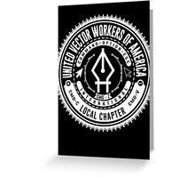 United Vector Workers of America (Mac) Greeting Card