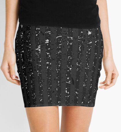 Black Spatter Stripes v2 Mini Skirt