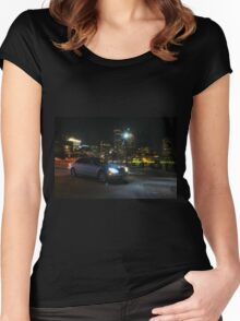 Night Out In Boston Women's Fitted Scoop T-Shirt