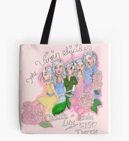Virgin Suicides names design Tote Bag