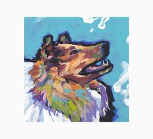 Rough Collie Dog Bright colorful pop dog art Unisex T-Shirt