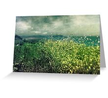 """ Porthscatho Hedgerow"" Greeting Card"