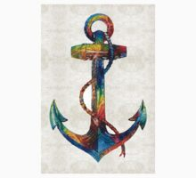 Nautical Anchor Art - Anchors Aweigh - By Sharon Cummings  Kids Tee