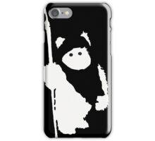 Ewok Silhouette (Black) iPhone Case/Skin