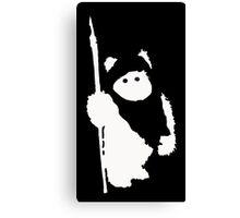 Ewok Silhouette (Black) Canvas Print