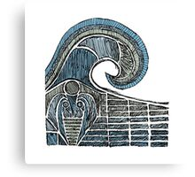 Leviathan Sketch - Color Canvas Print