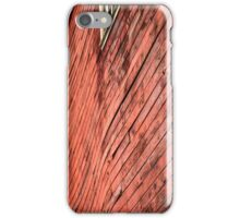Red wooden walls iPhone Case/Skin