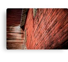 Red wooden walls Canvas Print
