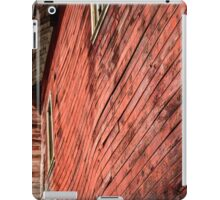 Red wooden walls iPad Case/Skin