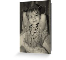 A Portrait.....Smiling Little Girl Greeting Card