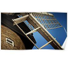 Windmill & Blue Sky at Bradwell - Milton Keynes Poster
