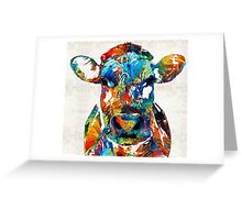 Colorful Cow Art - Mootown - By Sharon Cummings Greeting Card