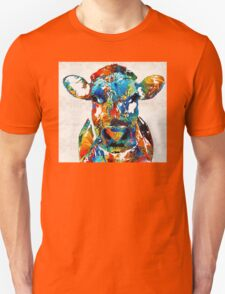 Colorful Cow Art - Mootown - By Sharon Cummings Unisex T-Shirt