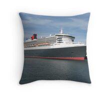 Queen Mary 2 Throw Pillow