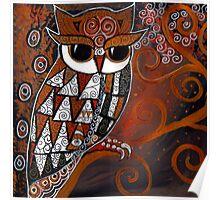 Golden Eyed Owl Poster