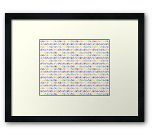 Colorful Bicycles Framed Print