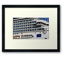 Cruise Liner, Port of Barcelona Framed Print