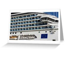Cruise Liner, Port of Barcelona Greeting Card
