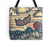 Antique Whale  Tote Bag