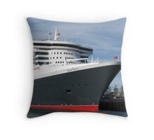 Queen Mary 2 Throw Pillow
