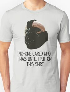 """BANE - """"NO-ONE CARED WHO I WAS"""" T-Shirt"""