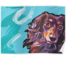 Dachshund Dog Bright colorful pop dog art Poster