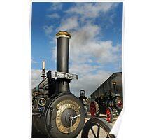 2 Wallis & Steevens Steam Engines Poster